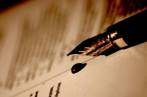 по почерку